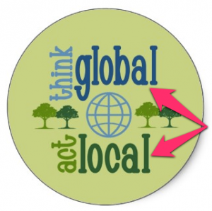 be global and act local essay Think globally, act locally this is the usual saying it means you need to think about problems (usually ecological contexts) on a global scale, and the best way to.