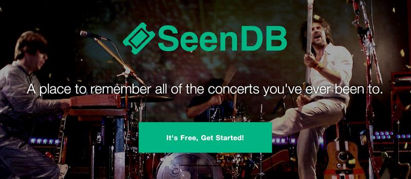 SeenDB - Your Complete Concert History