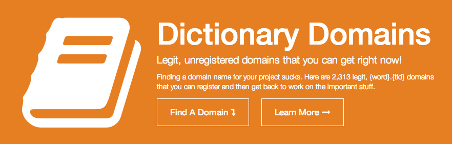 Dictionary word domain names that are available