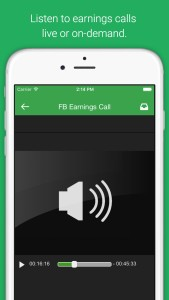 Listen to earnings calls live or on-demand